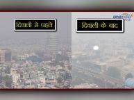 दीवाली से पहले और दीवाली के बाद दिल्ली का हाल