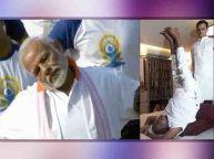 85 साल के देवगौड़ा ने पीएम मोदी को योग चैलेंज
