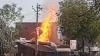 गोंडा: गैस रिफिलिंग के दौरान 13 सिलेंडरों में विस्फोट से लगी भीषण आग, मचा हड़कंप