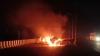 यूपी के एटा में भीषण हादसा, 11 वाहन जलकर राख, एक की जलकर मौत