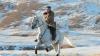 किम जोंग उन ने बर्फीली पहाड़ियों में की घुड़सवारी