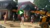 सरपंच की गाड़ी को जेसीबी से मारी टक्कर, वीडियो वायरल
