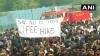 JNU स्टूडेंट्स का संसद मार्च, पुलिस बैरिकेड तोड़ आगे बढ़े