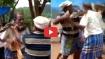Video: 10 फुट के अजगर को छेड़ना पड़ा भारी, गले में फंदा लगा के लटका तो मुश्किल में फंस गई जान