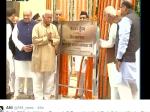 मोहन भागवत, अमित शाह और राजनाथ ने रखी RSS ऑफिस की नींव