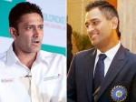 धोनी ने सीनियर खिलाड़ियों को बखूबी संभाला-इंडियन कोच कुंबले का बड़ा बयान