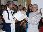 उत्तराखंड के राज्यपाल ने त्रिवेंद्र सिंह रावत को CM नियुक्त किया, सरकार बनाने का दिया न्यौता