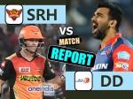SRHvDD: रोमांचक मुकाबले में हैदराबाद ने दिल्ली को 15 रनों से हराया