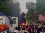 बिहार: नालंदा के हरनौत में चलती बस में लगी आग, 9 जिंदा जले