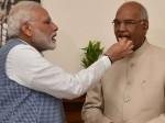 राष्ट्रपति चुनाव में जीत पर पीएम मोदी ने रामनाथ कोविंद को मिठाई कौन सी खिलाई?