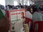 भाजपा के कार्यक्रम में बंटे अखिलेश यादव के पोस्टर, मंच छोड़कर भागे अधिकारी