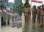 बाढ़ के पानी में डूबे थाने में पुलिस ने फहराया तिरंगा, DGP ने किया सलाम