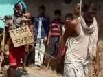 बाप ने अपने ही बेटे को पहनाई चप्पलों की माला, मुंडन कर पूरे गांव में घुमाया
