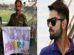 कोहली के लिए पाकिस्तान से आया रिश्ता, पुलिसवाले ने पोस्टर पर लिखा विराट मुझे शादी कर लो