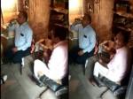 VIDEO: बिजली विभाग के कर्मचारी ने दफ्तर को बनाया मधुशाला, जमकर पी बीयर