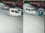 VIDEO: कार की टक्कर से रिक्शा चालक की मौत, कैमरे में कैद LIVE ACCIDENT