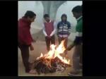मऊ में धार्मिक पोस्टर जलाने का वीडियो वायरल, मामले में तीन की गिरफ्तारी