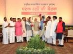 एनडीए की बैठक में शामिल हुए 36 दल, गैरहाजिर रहे तीन दलों ने भी लिखकर दिया समर्थन