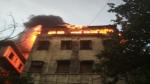सेंट्रल कोलकाता के एक गेस्ट हाउस में लगी भीषण आग, बुझाने में जुटे दमकलकर्मी
