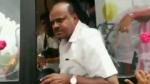 कुमारस्वामी को ग्राम प्रवास कार्यक्रम के दौरान झेलना पड़ा विरोध, काफिला रोकने पर खोया आपा