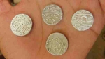 भदोही: खुदाई में मिले 14वीं शताब्दी के मुगलकालीन चांदी के सिक्के