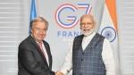 जी-7 समिट से इतर पीएम मोदी ने यूएन चीफ से की मुलाकात