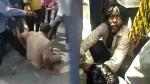 बिजनौर: बच्चा चोरी के शक में भीड की मार खाते मां-बाप को बचाने पहुंची पुलिस, लोगों ने दौड़ा-दौड़ाकर पीटा