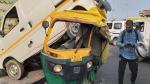 दिल्ली: अक्षरधाम फ्लाईओपर पर बेकाबू बस ने 7 कारों को मारी टक्कर, तीन जख्मी
