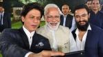 पीएम मोदी के संग इस अंदाज में दिखे अमिर-शाहरुख, सितारों में सेल्फी लेने की लगी होड़