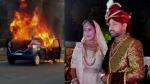 Bhilwara : घर लौट रहे दूल्हा-दुल्हन की कार में लगी आग, टायर फटने पर जोरदार धमाका, VIDEO