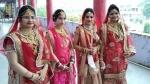 इटावा: तीन सगी बहनों सहित 4 युवतियां बनेंगे साध्वी, दुल्हन की तरह सजकर घर से हुईं विदा