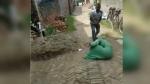 मकान पर कब्जे के लिए भाभी को बीच सड़क पर लाठियों से पीटता रहा युवक, देखें वीडियो