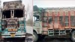 जम्मू-कश्मीर: बौखलाए आतंकियों ने ट्रक में लगाई आग, सुरक्षाबलों ने शुरू किया सर्च ऑपरेशन