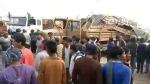 चंदौली: पीएसी की गाडी से जा टकराया ट्रक, जवान की हुई दर्दनाक मौत