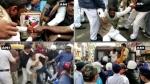 भारत माता की पूजा के लिए जा रहे BJP कार्यकर्ताओं को पुलिस ने रोका,  हुई झड़प