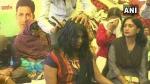 MP: धरने के 72वें दिन महिला टीचर ने सिर मुंडवाकर राहुल गांधी को भेजे बाल, जानिए वजह