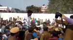 'देश का गद्दार है' बोल युवक ने कन्हैया कुमार पर फेंकी चप्पल, पुलिस ने हिरासत में लिया