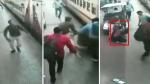 VIDEO: चलती ट्रेन में चढ़ रही महिला का फिसला पैर, RPF जवान ने यूं बचाई जान