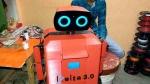 बुलंदशहर के दो छात्रों ने बनाया 'डेल्टा-3.0' रोबोट, कोरोना मरीजों को पहुंचाएगा दवा और खाना