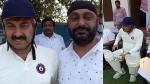 लॉकडाउन में दिल्ली से हरियाणा आकर मनोज तिवारी ने क्रिकेट खेला, बिन मास्क पहने भीड़ में दिखे