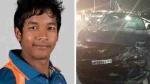 क्रिकेटर अक्षदीप की Ford Mustang 2 कारों से टकराते हुए डिवाइडर से जा भिड़ी, बाल-बाल बचे वो