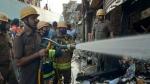 पश्चिम बंगाल: सिलीगुड़ी में 7 दुकानें जलकर खाक, दमकल की गाड़ियां मौके पर