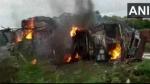 मध्य प्रदेश के छपरा में दो ट्रकों की  भीषण टक्कर, 2 की मौत, 4 लोग घायल