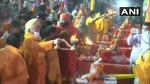 अयोध्या राम मंदिर: आरएसएस प्रमुख ने सरयू नदी की प्रार्थना, देखें आरती का सुंदर वीडियो