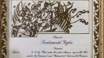 भूमि पूजन से पहले रविशंकर प्रसाद ने शेयर की संविधान की मूल प्रति, दिखाई भगवान राम और सीता की तस्वीर