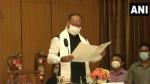 मणिपुर: बीरेन सिंह कैबिनेट में फेरबदल, 5 नए मंत्रियों ने ली शपथ