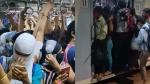 मुंबई की लोकल ट्रेनों में भीड़ के वीडियो वायरल, लोगों ने पूछा- ऐसे भागेगा कोरोना
