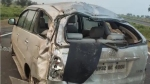 गैंगस्टर को मुंबई से ला रही यूपी पुलिस की गाड़ी MP में पलटी, अपराधी की मौत