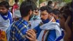 हाथरस गैंगरेप-मर्डर: दिल्ली में अस्पताल के बाहर भीम आर्मी का प्रदर्शन, चंद्रशेखर ने कहा- इंसाफ मिलने तक आंदोलन जारी रहेगा