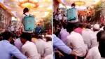 कोरोना के डर से शादी में आए मेहमानों को कर दिया सैनिटाइज, VIDEO देख लोग बोले- पहले इत्र छिड़कते थे लेकिन अब...